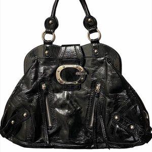 Guess Vintage Black Leather Purse